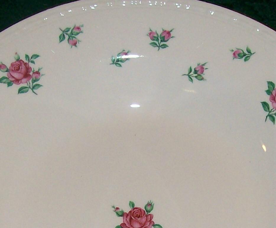 H. Laughlin Rambler Rose Ceramic Plate 10