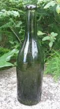 Hock Wine Bottle: Olive Green Turn-Mold