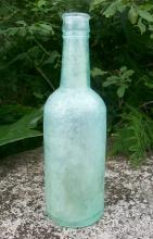 Lea & Perrins Worcestershire Glass Bottle 1876-80's Aqua Green 8.5