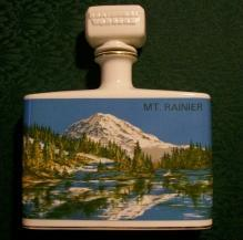 Northwest Wonders Clem Harvey Ceramic Decanter Kentucky Bourbon 1974 Mt. Rainier