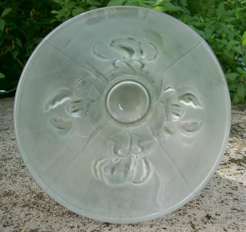 Weil Czechoslovakian Satin Glass Vase with Iris Pattern 9 7/8