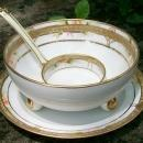 Noritake Nippon Porcelain Gold-Encrusted Whipped Cream Bowl Set 3-Piece
