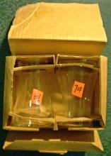 7-Up Advertising Glass Tumbler Pair Mint in Original Box 1970's