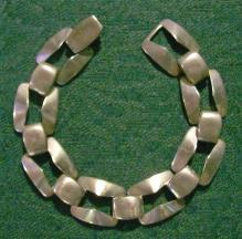 Sterling Silver Bracelet: Rectangular Links: 1950's
