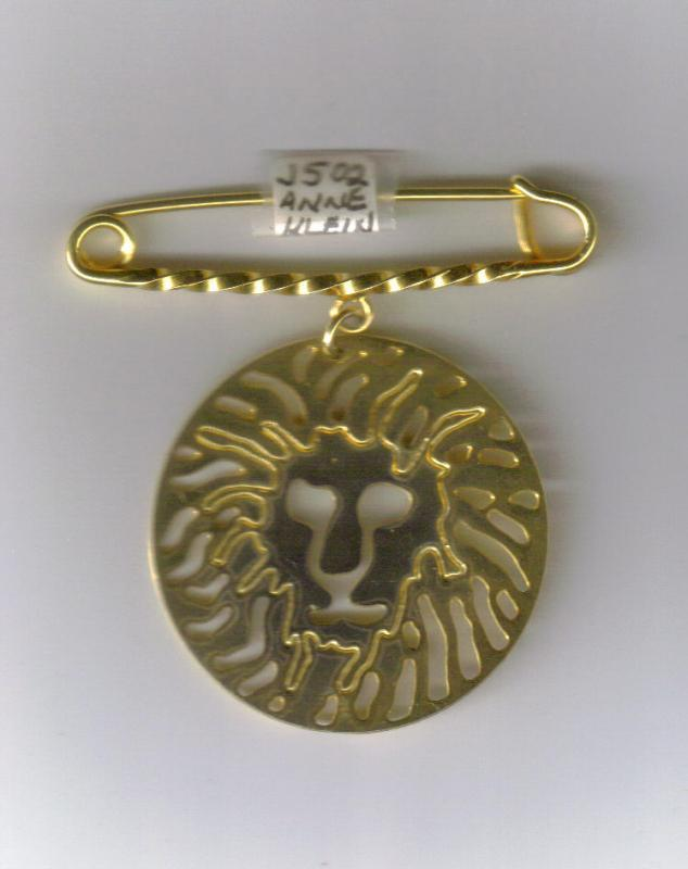 Anne Klein Gold-Tone Metal Lion Pin 1.5