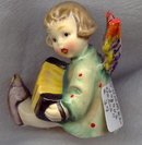 Hummel Joyous News with Accordion #39 TM1 Ceramic Figural Candleholder by Goebel 1935-50