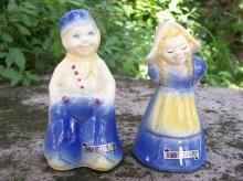 Shawnee Dutch Children Ceramic Salt & Pepper #323 Souvenir of Johnstown, Pennsylvania
