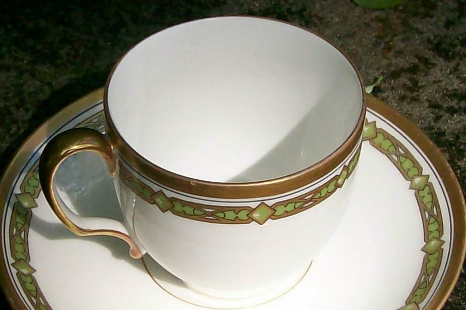 T&V Limoges Demitasse Cup & Saucer No. 6377