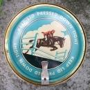 Kentucky Club Tobacco Advertising Tin Ca. 1955 Jumping Horse/Steeple Chase