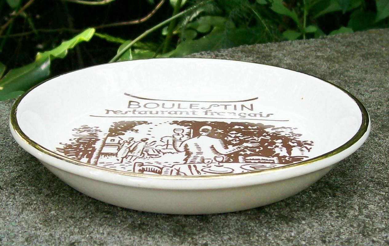 Boulestin Restaurant Francais London Ceramic Ashtray