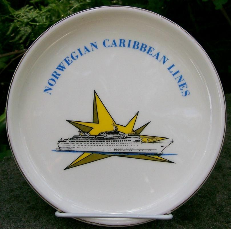 Norwegian Caribbean Lines Ceramic Ashtray/Dresser Tray 1960's-70's 7