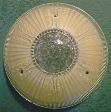 Ceiling Light Shade:  Champagne Beige Frosted on Clear