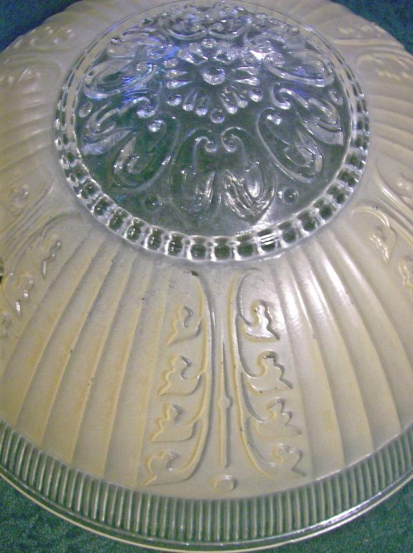 Glass Ceiling Light Shade Champagne Beige Frosted/ Clear 10.25