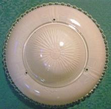 Ceiling Light Shade:  Pink Frosted on Clear