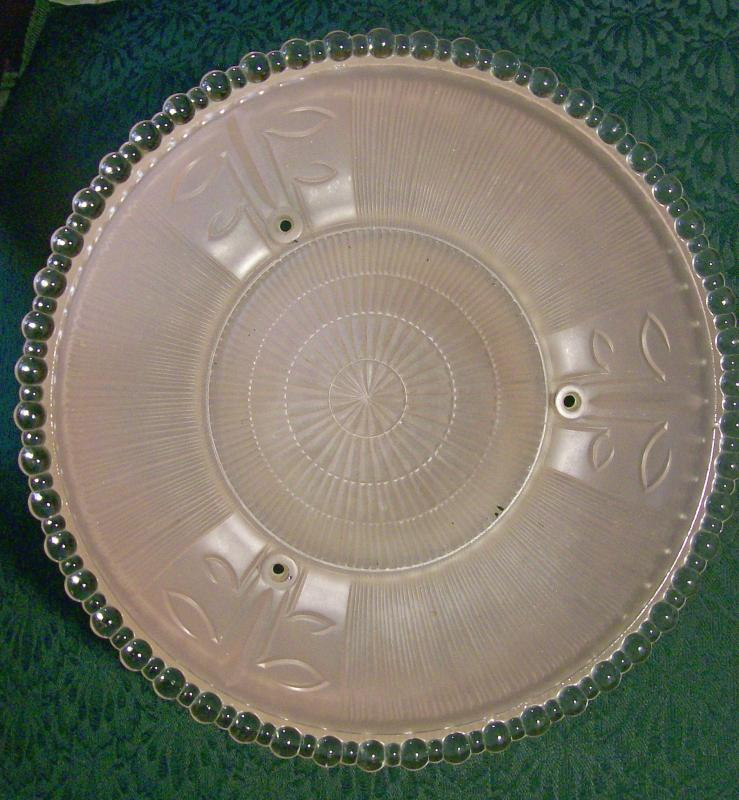 Art Deco Glass Ceiling Light Shade Pink Frosted/Clear 11