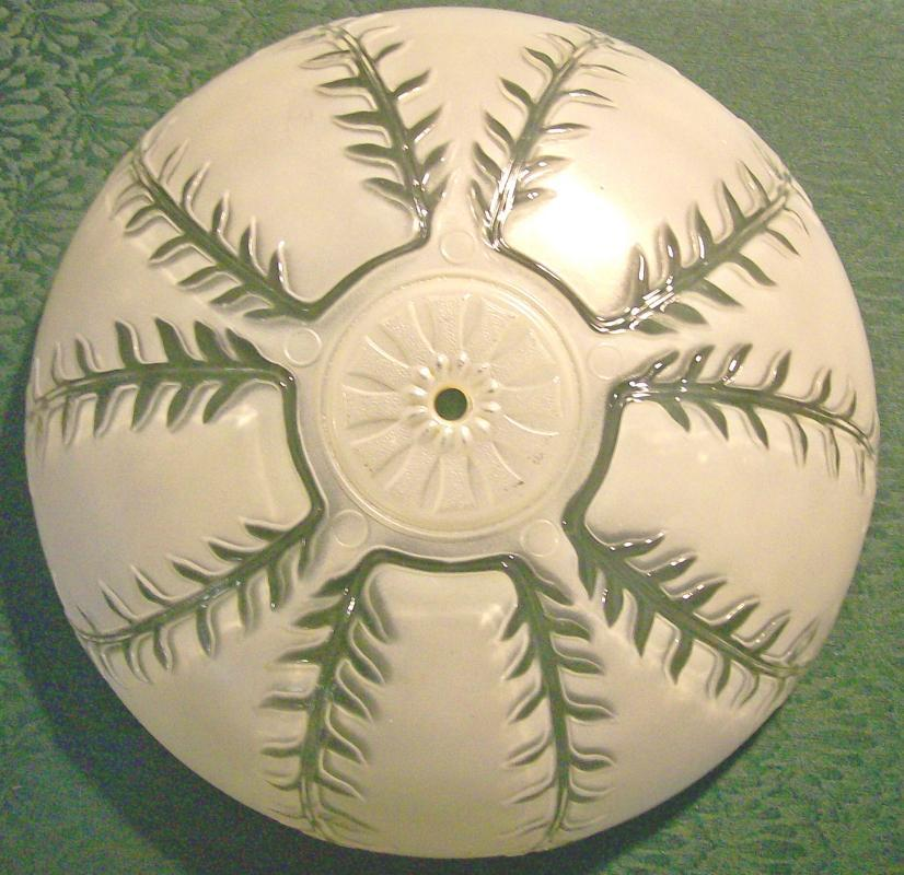 Ceiling Light Shade:  Embossed Fronds