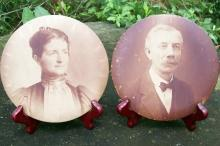 Columbia Portrait Co. Metal Photo Pair 6