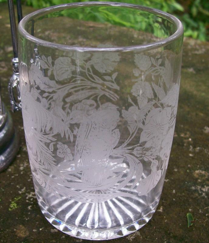 Victorian Silver-plate Pickle Castor Set 4-Piece: Parrot/Grasshopper