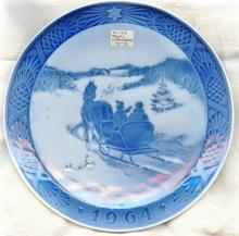Royal Copenhagen Christmas Plate 1964: Fetching the Christmas Tree