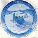 Royal Copenhagen Ceramic Christmas Plate 1964 Fetching the Christmas Tree 7