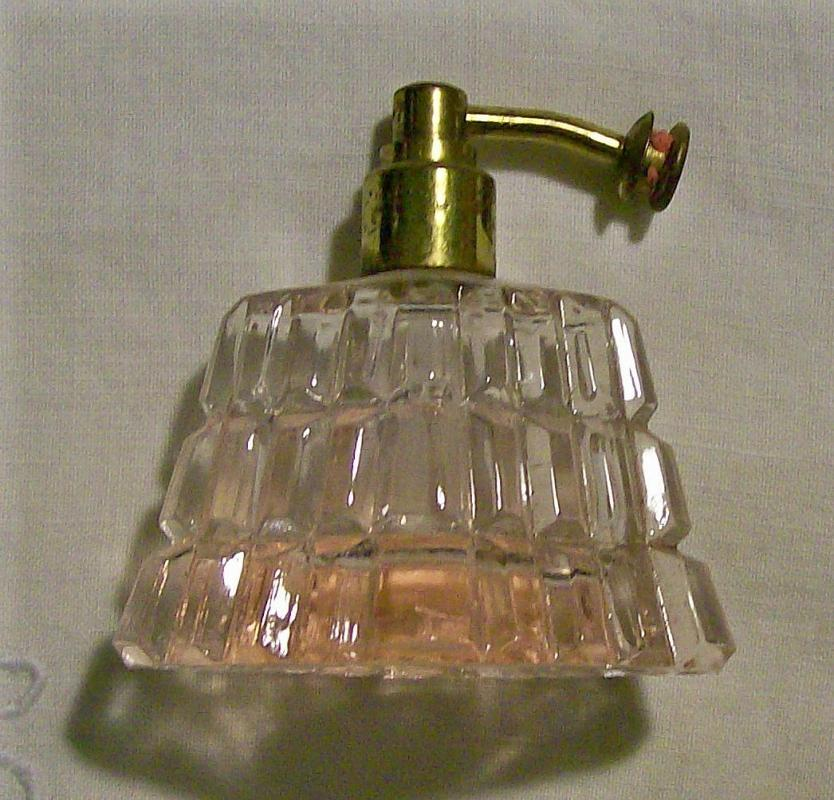 Pink Glass Perfume Atomizer Ca. 1930's: No Bulb