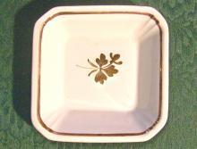 Tea Leaf Ironstone Nappy: Copper Luster Trim