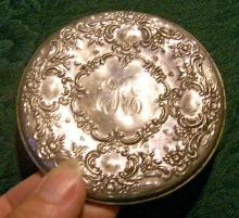 Towle Sterling Repousse Purse Mirror