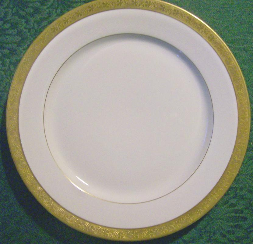 T&V Limoges Gold-Encrusted Plate Early 1900's