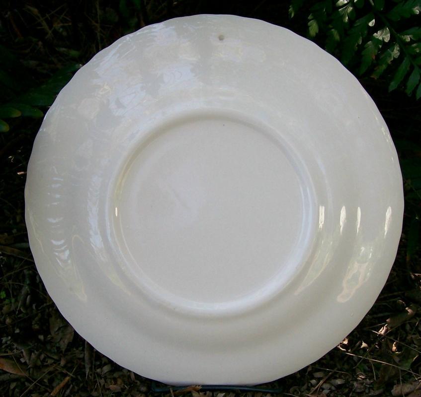 1974 Ceramic Calendar Plate Black & White Seasons 10
