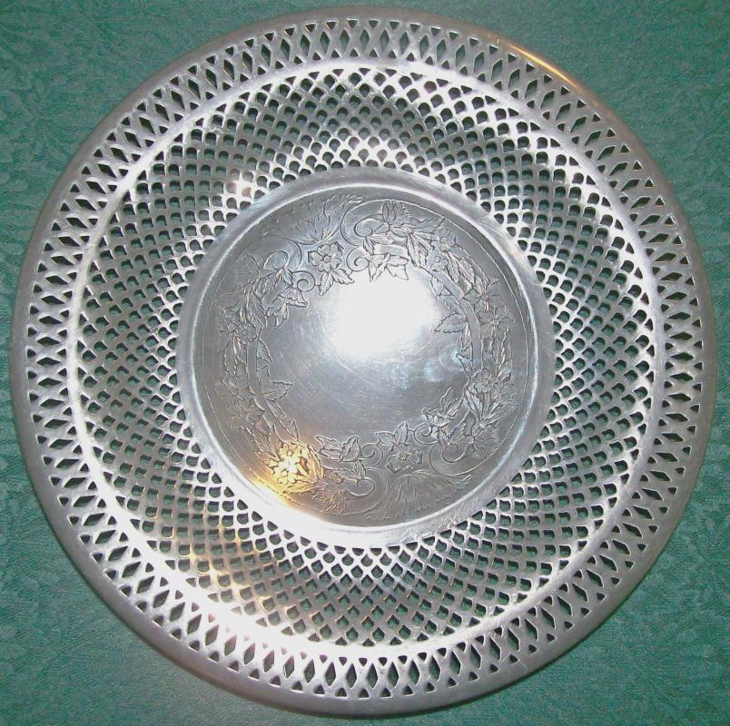 Webster Silver-Plate Pierced Bowl #46:  Pedestal Foot