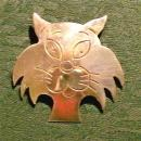 Taxco Mexican Silver Comical Cat Pendant/Brooch