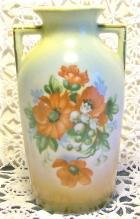 Czechoslovakian Vase with Poppy Decal