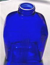 Art Deco Bottle: Cobalt Blue