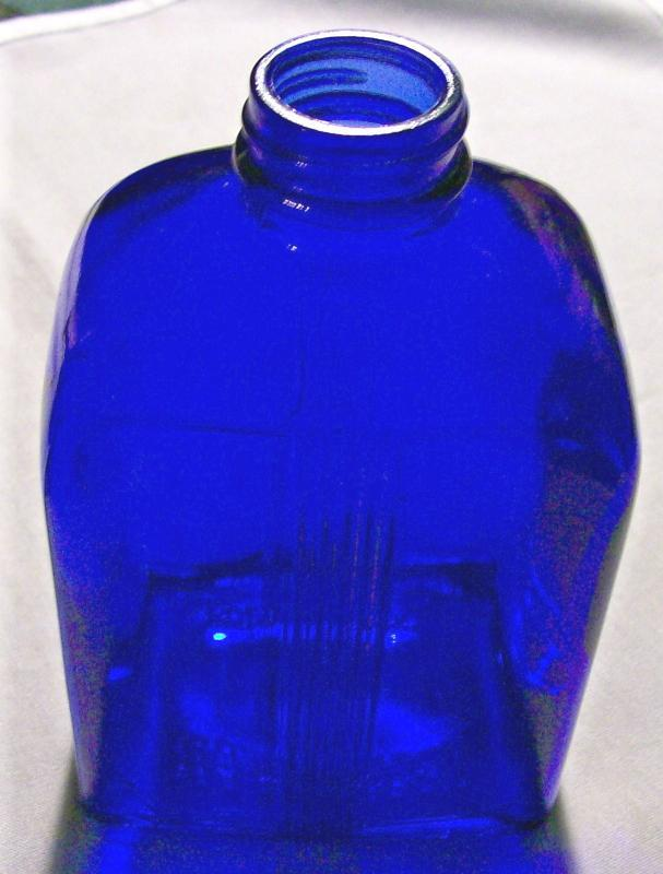 Art Deco Bottle: Cobalt Blue