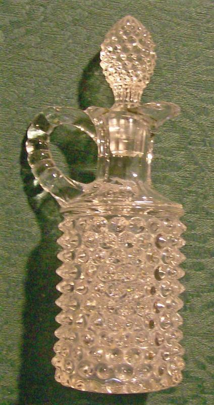 Albany Model Flint Clear Glass Dew Drop Cruet with Stopper 1890's