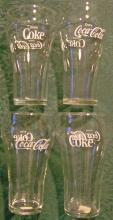 Coca-Cola Glass Tumbler Set of 4: Soda Fountain 1950's-60's