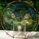 Lancaster Pink Depression Glass Cupped Plate: