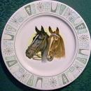 Horse Decal Ceramic Plate Taylor, Smith & Taylor