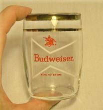 Budweiser Beer Barrel Taster Glass: 1950's Bow-Tie