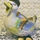 Duck Figural Ceramic Cream Pitcher 1930's Japan Anthropomorphic