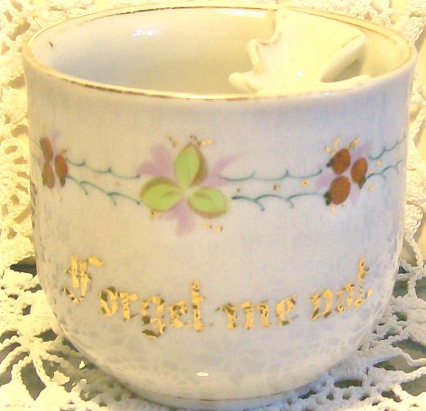 Limoges Porcelain Mustache Mug