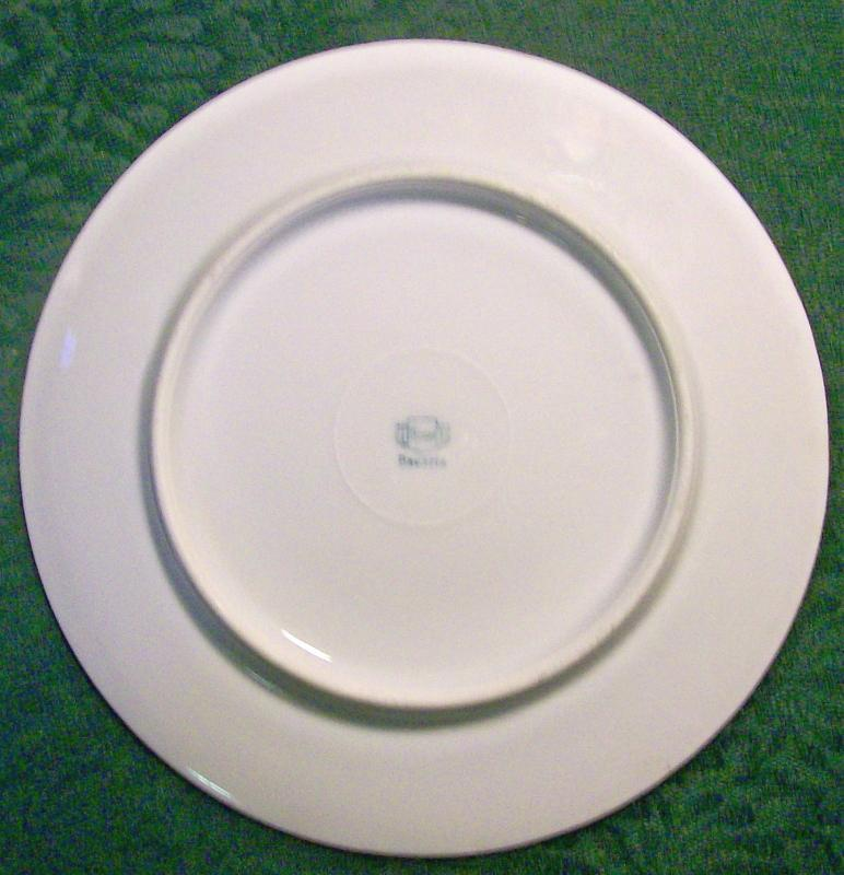 Thomas Bavaria Pansy Flower Ceramic Plate with Wide Gold Band Early 1900's