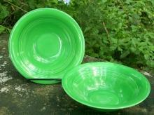 Laughlin Harlequin Medium Green 36s Oatmeal Ceramic Bowl 6.5
