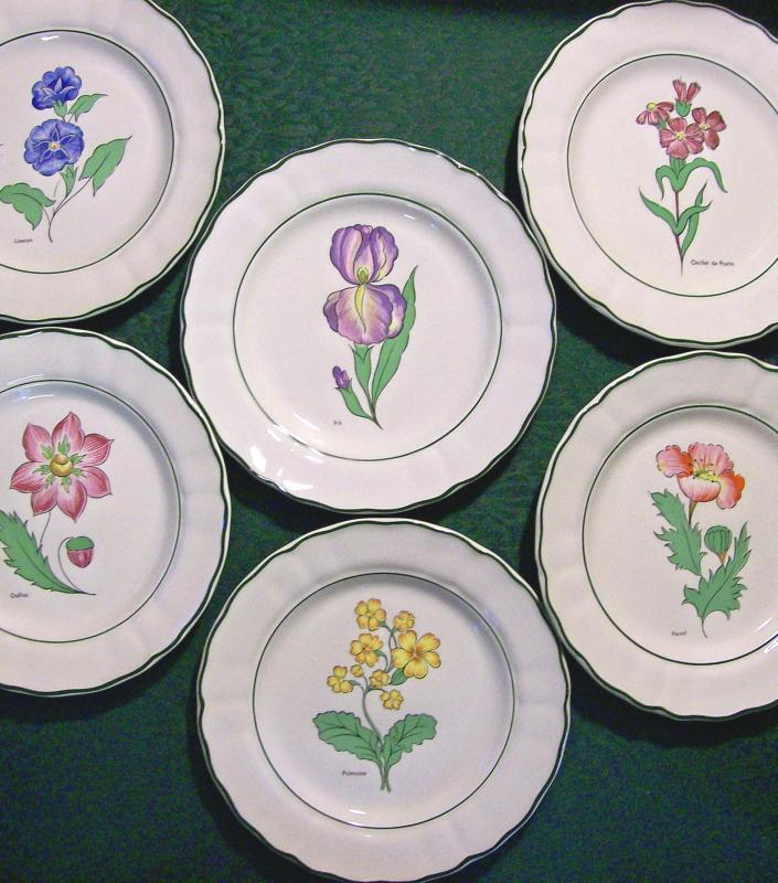 Grindley Fleur des Champs/ Studio 12 Salad Plate Set of 6 Early '80's