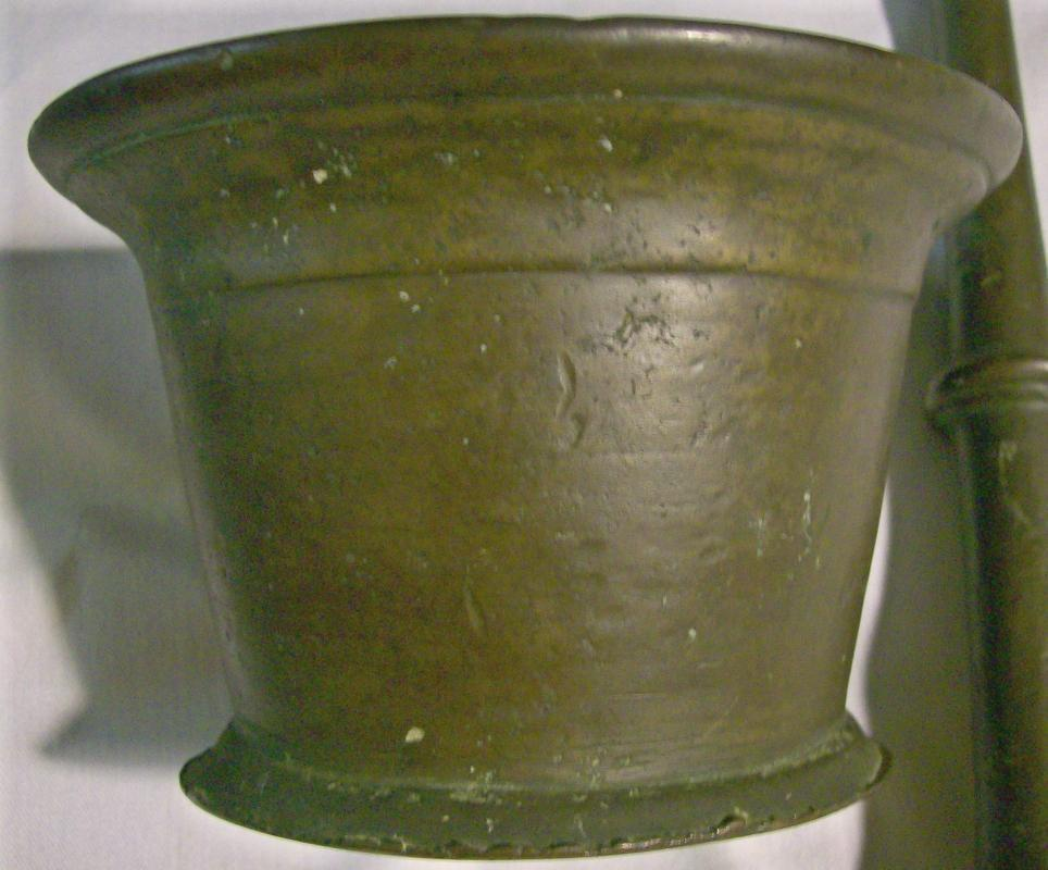 Bronze Mortar & Pestle Set 1800's Apothecary