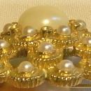 Sarah Coventry Brooch/Pin 1960's-70's Faux Pearl Mound