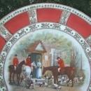 Noritake Nippon Hunt Scene Porcelain Plaque Moriage Trim 9.5