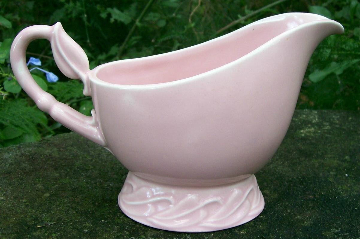 Vernon/Metlox Native California Ceramic Gravy Boat Pink 1942-47