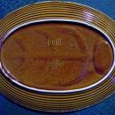 Hull Mirror Brown House & Garden Ceramic Steak Platter 14.25