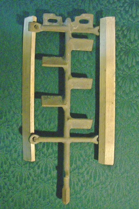 Cast Iron Ice Cream/Dairy Churn Dasher with Wooden Paddles #4-38NU5